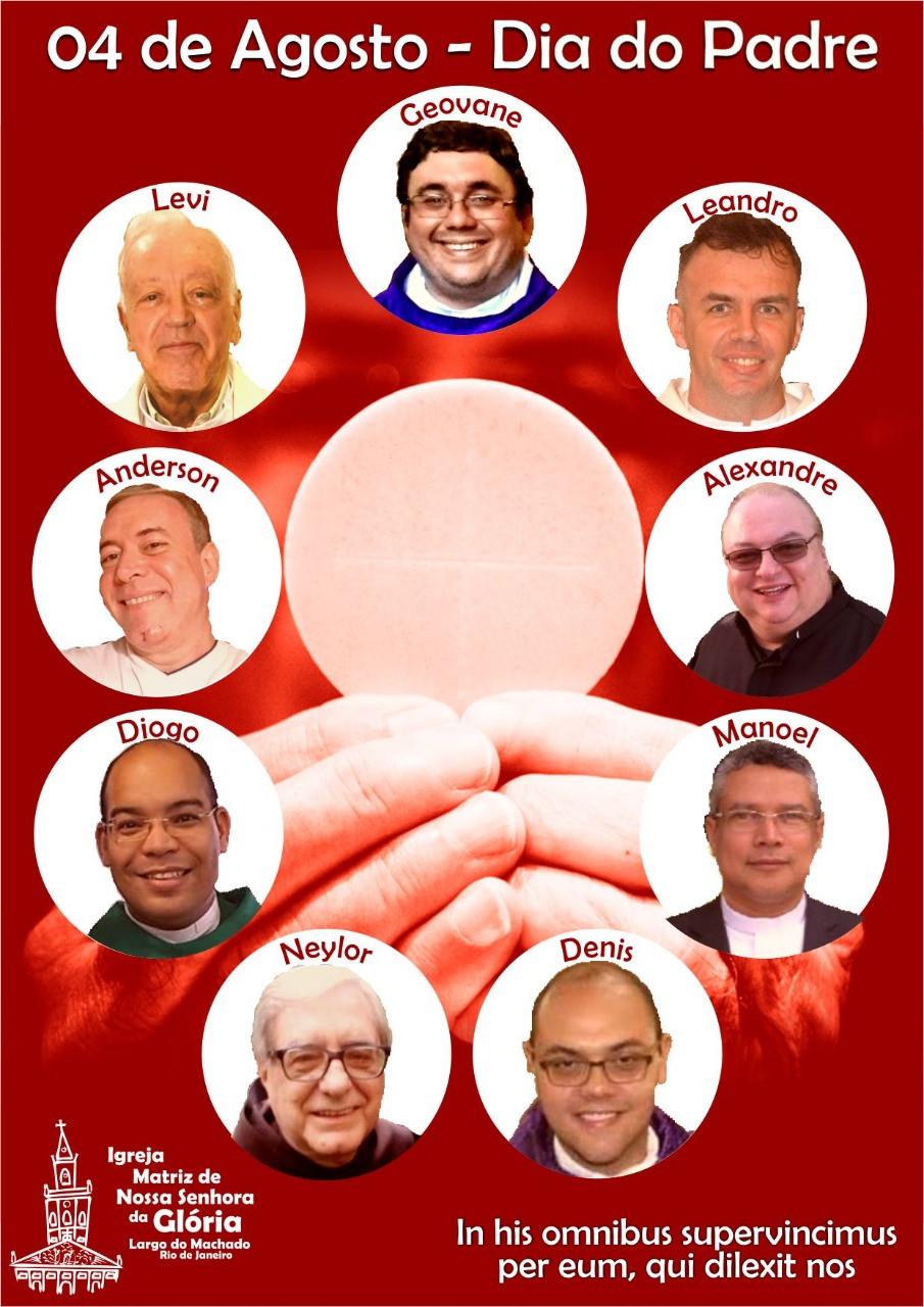 Uma pequena homenagem ao nosso pároco Padre Geovane e nossos vigários que tanto contribuem para o nosso crescimento espiritual. Rezemos pelos nossos padres.