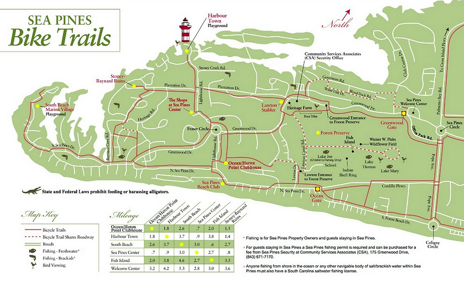 Sea Pines Bike Trail Map