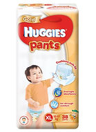 Huggies Gold Pants, XL, 38pcs