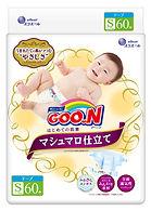 Goo.N Marshmallow Premium Soft Diapers, S, 60pcs