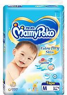 MamyPoko Extra Dry Skin, M, 60pcs