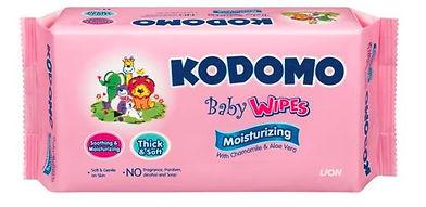 Kodomo Baby Wipes, Moisturizing, 64s
