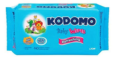 Kodomo Baby Wipes, Refreshing, 70s