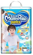 MamyPoko Extra Dry Skin Pants (Boys), L, 52pcs