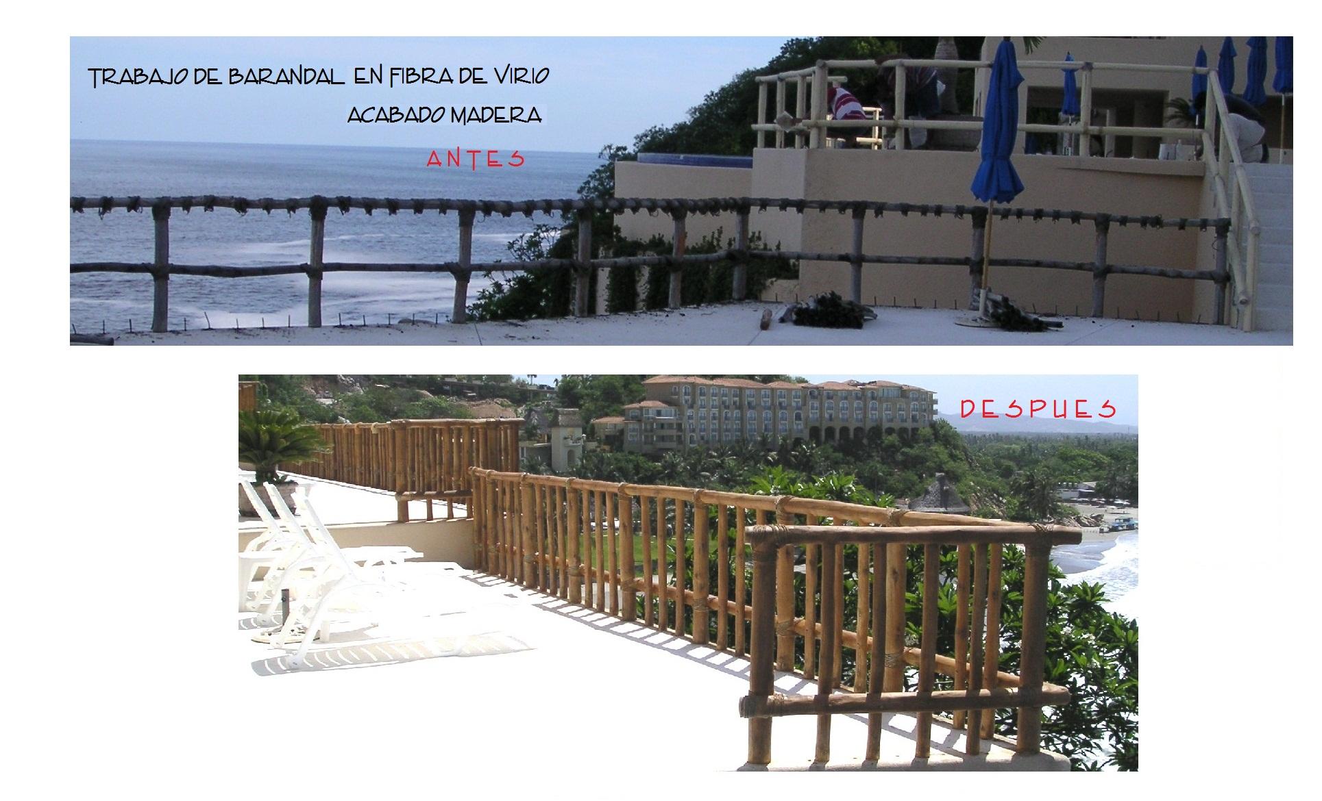 BARANDALES ACABADO MADERA