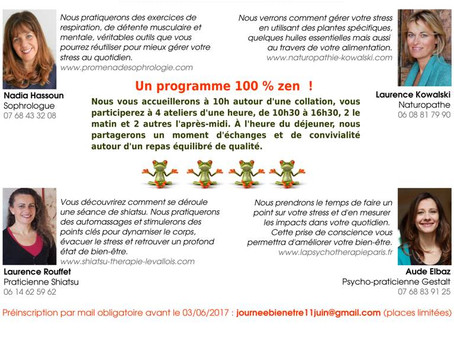Dimanche 11 juin à Levallois :  demandez le programme !