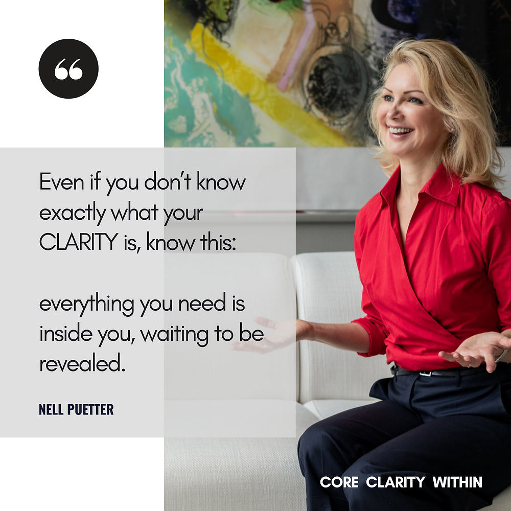 Here is your opportunity to book a free initial CORE CLARITY CONSULT with me to discuss your situation, so we can explore together how to best empower you to get the result you are looking for. Here we start shifting inner challenges, that often times leads to unwanted emotions, behavior and thoughts.