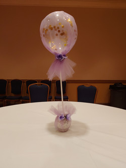 Tulle Wrapped Confetti Balloon