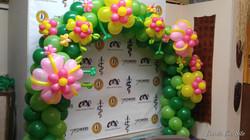 Luau Flower Balloon Arch