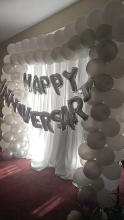Anniversary Balloon Backdrop