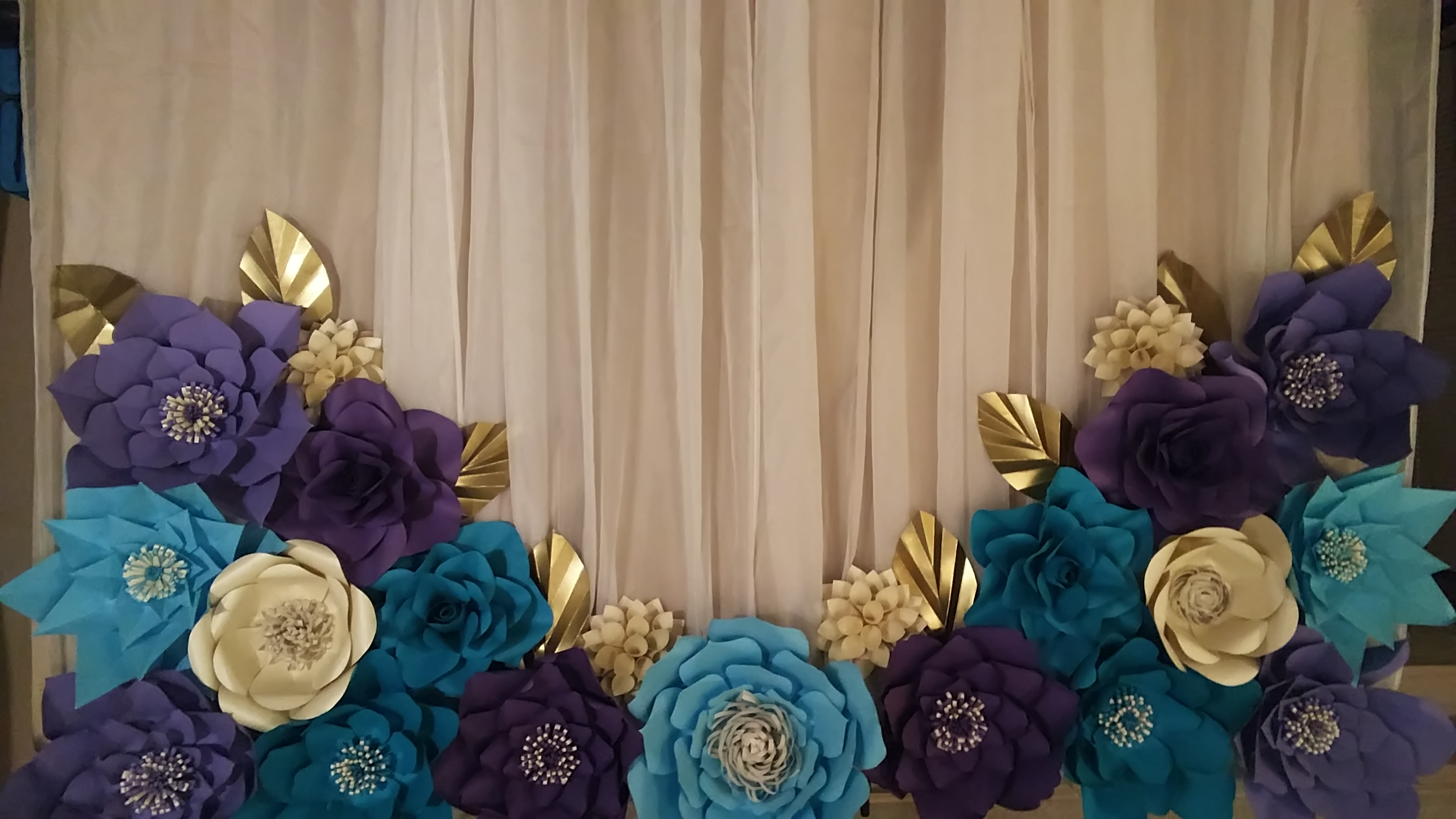 Paper Flower Backdrop