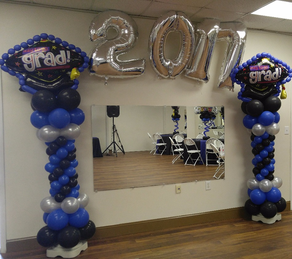Graduation Balloon Column