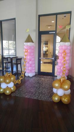 Princess Castle Balloon Column