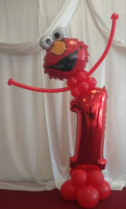 Elmo Number Balloon Column