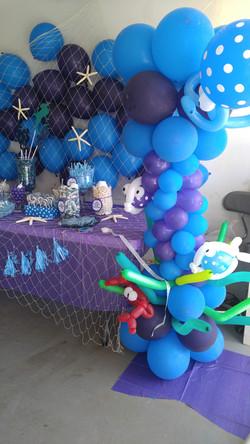 Under The Sea Balloon Column