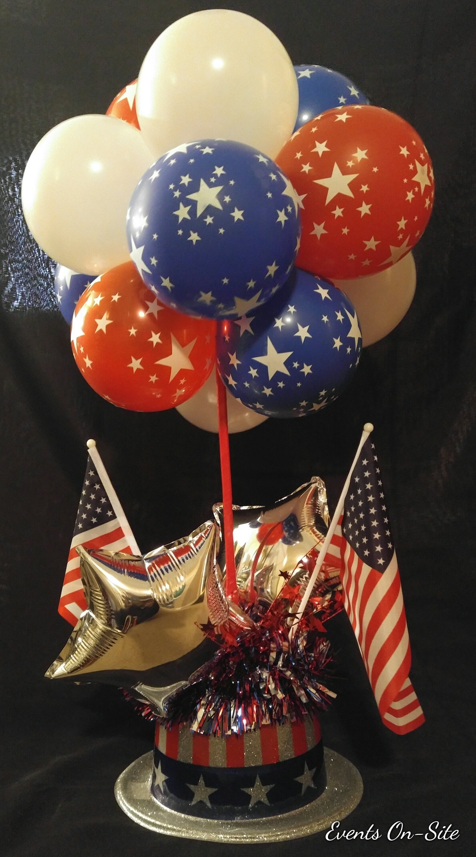 Topiary Ball Centerpiece - USA Pride