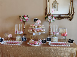 Girl Baby Shower Sweets Table