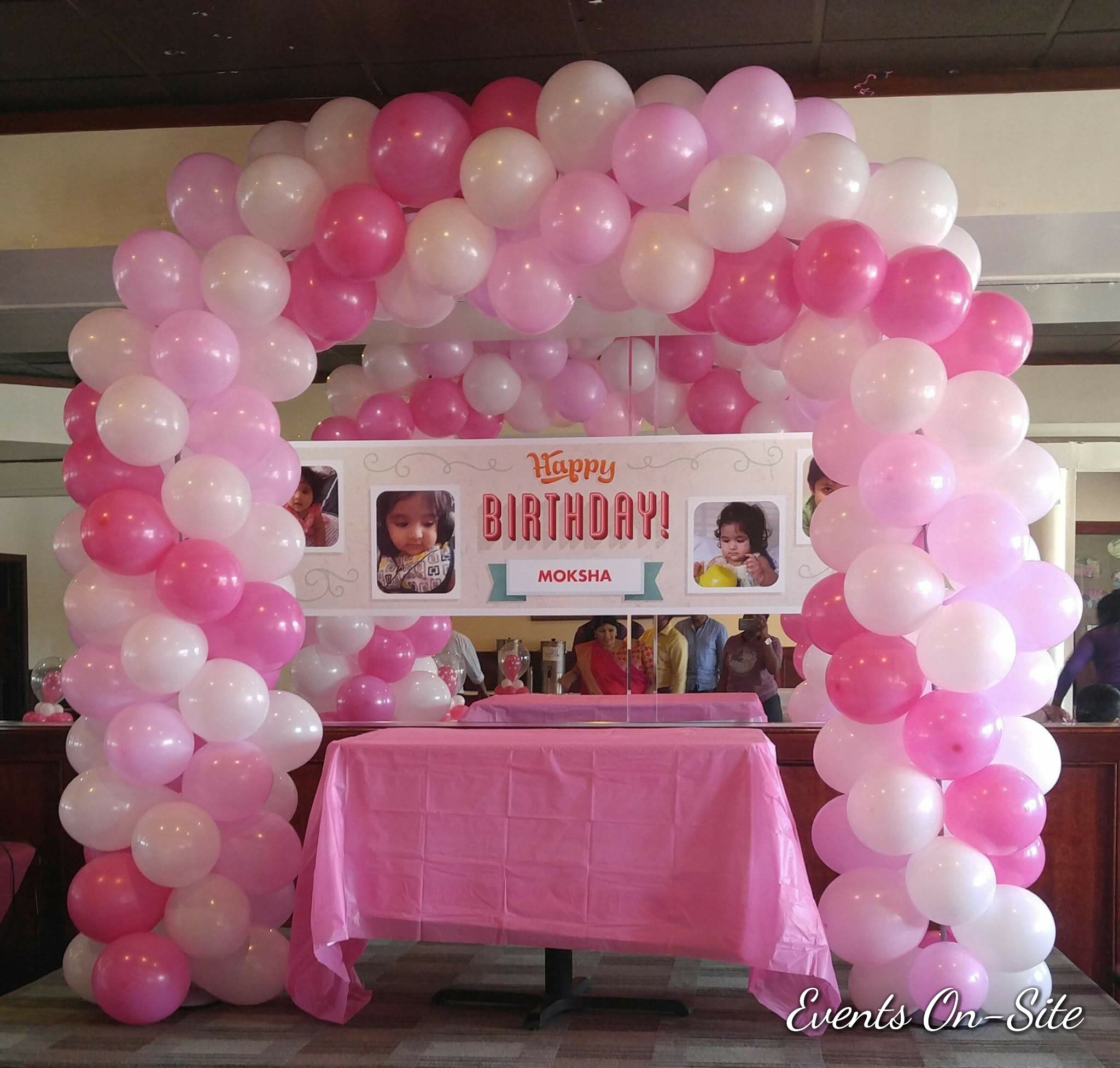 3 Color Spiral Balloon Arch