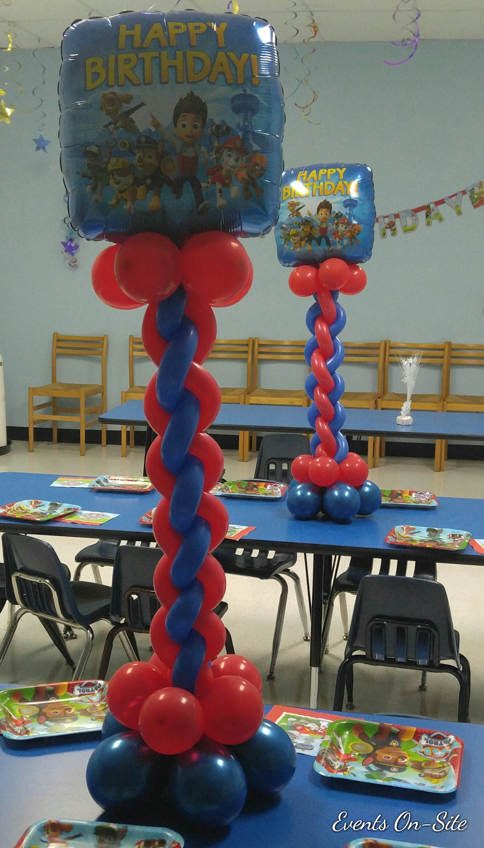 Foil Balloon Centerpiece