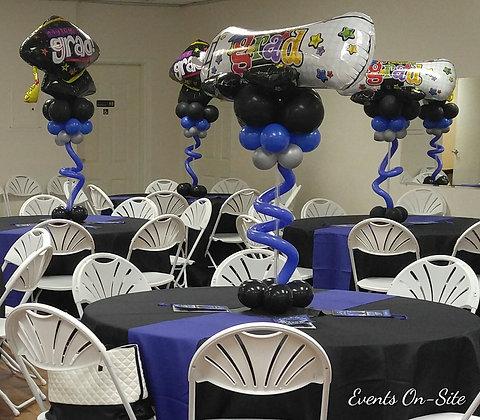 Graduation Balloon Centerpiece