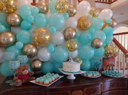 Balloon Wall Sweets Table