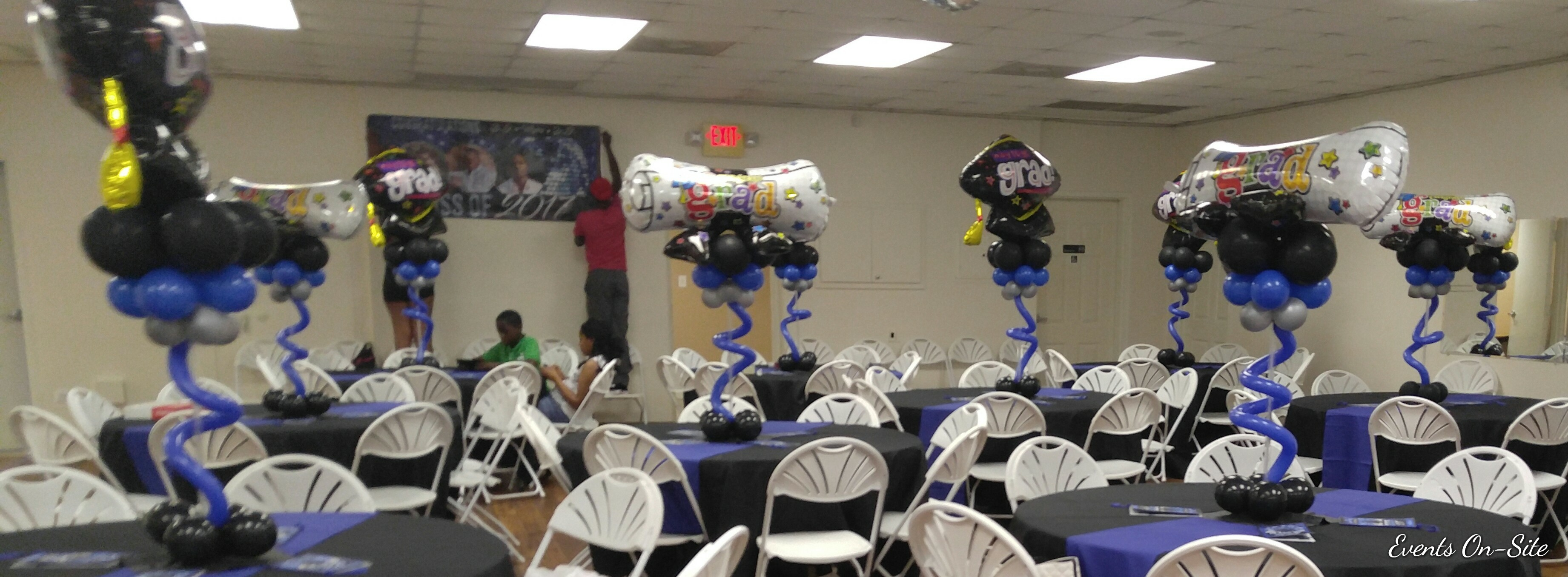 Foil Centerpiece - Graduation