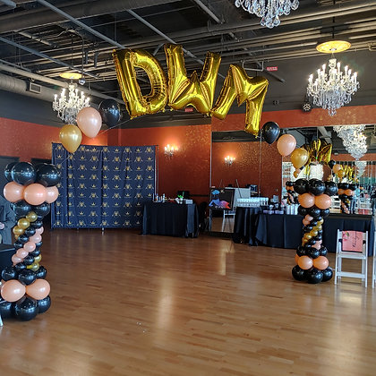 Letter Balloon Arch w/String of Pearls