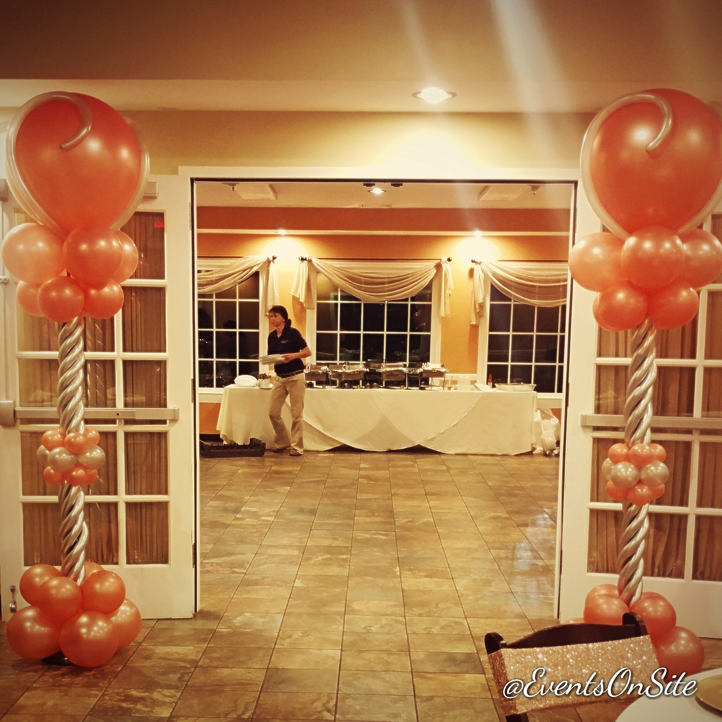 Elegant Balloon Column