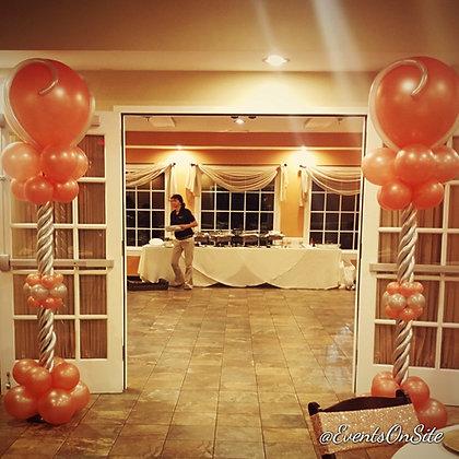 Rose Gold Elegant Balloon Column