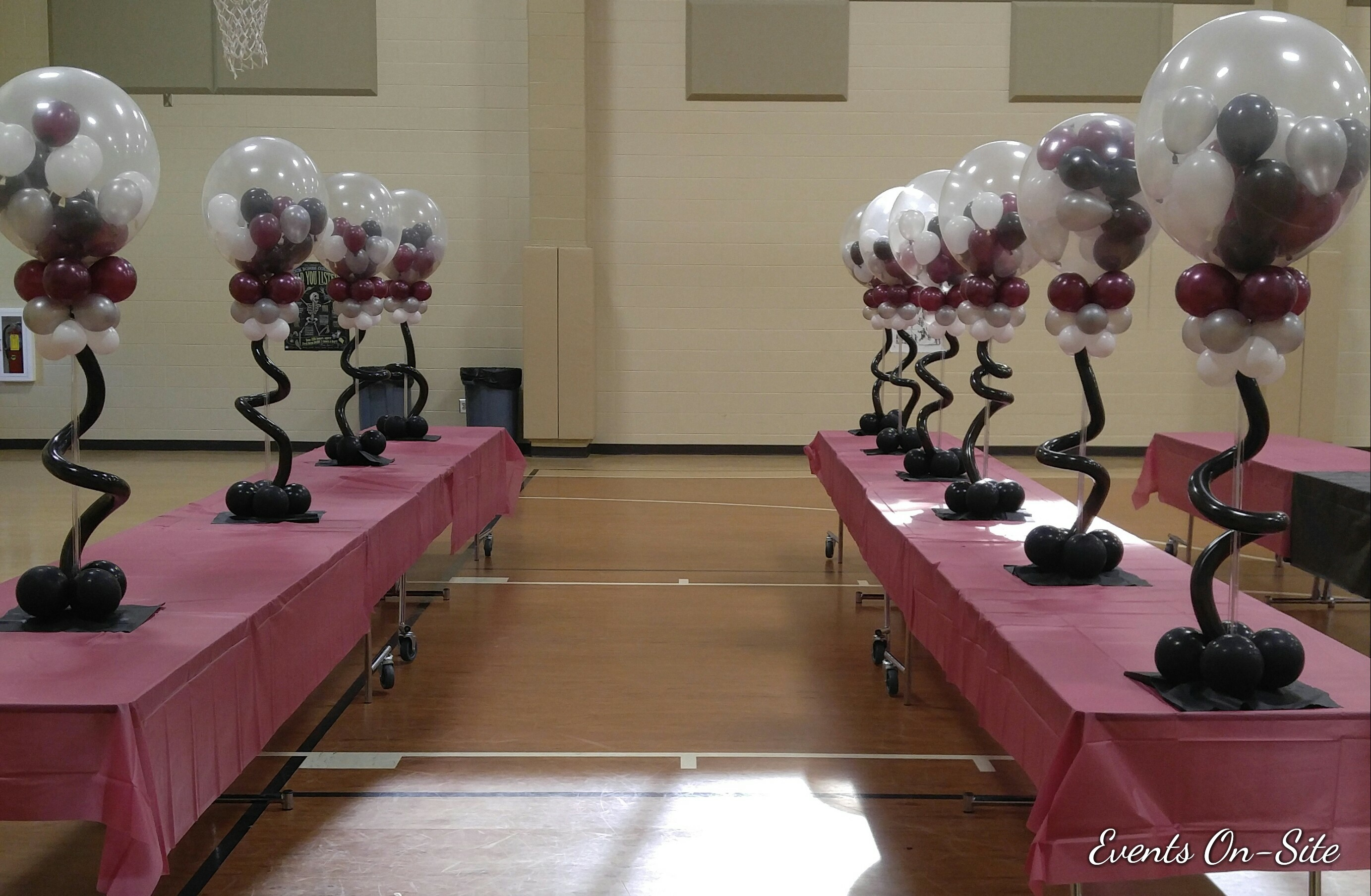 Balloons in a Ball Centerpiece