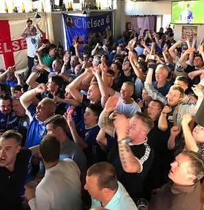 Chelsea Supporters Cheering Celebrating