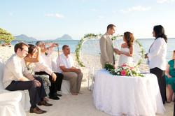 Beach wedding at Mauritius