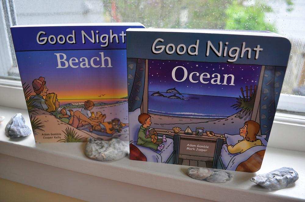 Good Night Beach & Good Night Ocean by Adam Gamble & illustrations by Mark Jasper