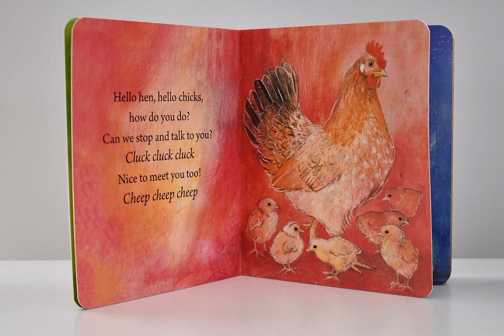 Hello Farm How Do You Do? by Marjolein Thiebout with illustrations by Lois Botman