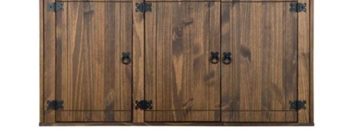 Armario Aéreo De 3 Puertas Precioso de madera maciza  Colores: miel oscuro  Dime
