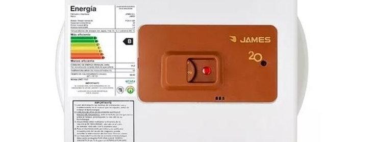 Calefón Termotanque 20lts James Cobre Prisma