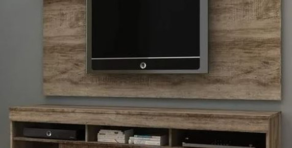 Modular Home Rack Tv Rustico + Panel Sensacion