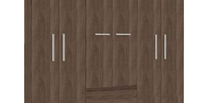 Ropero Placard Dormitorio 6 Puertas 2 Estanteso