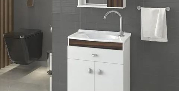 Mueble Para Baño Con Bacha Y Espejo Alta Calidad Malaga Corup Sensa