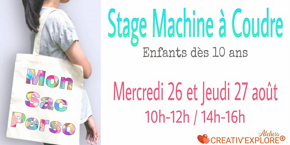 "Stage ""Couture machine"" Enfants débutants"