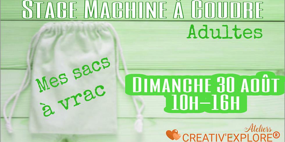 """Stage """"Couture machine"""" Adultes débutants"""