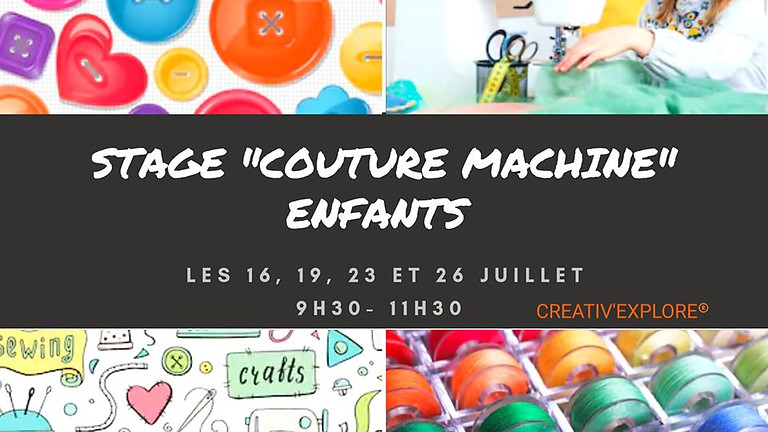 "Stage ""Couture machine"" enfants"
