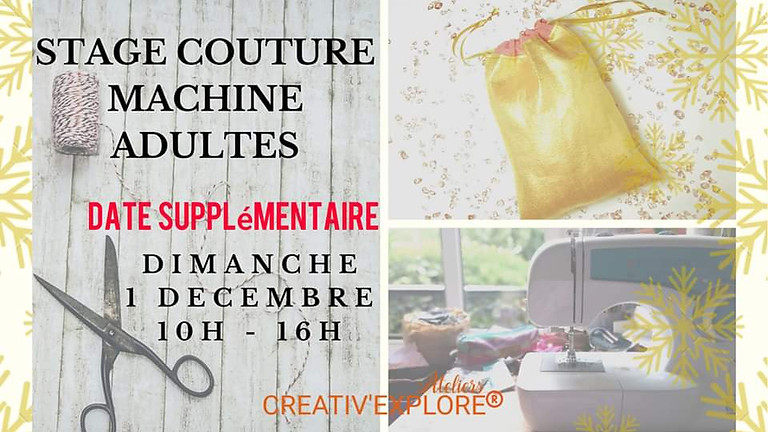 "Stage ""Couture machine"" Adules débutants"