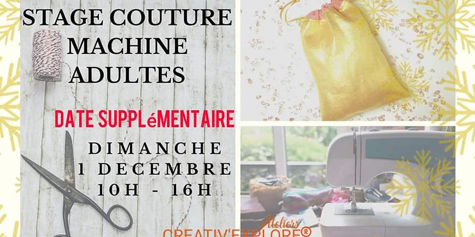 """Stage """"Couture machine"""" Adules débutants"""