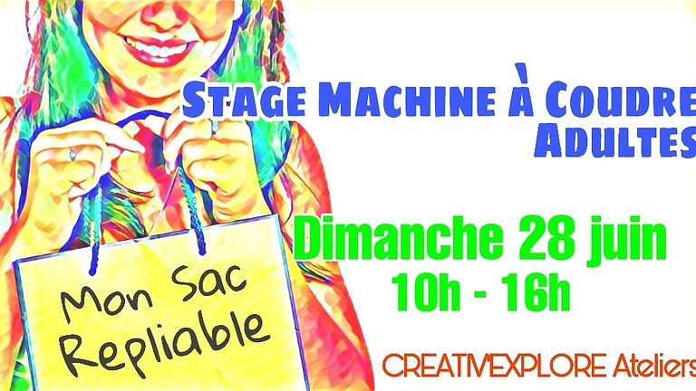 "Stage ""Couture machine"" Adultes débutants"