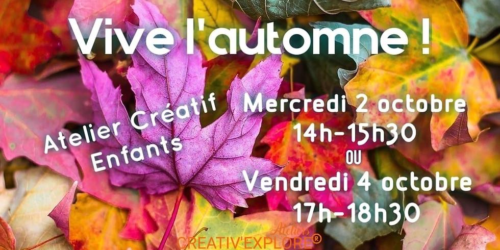 Vive l'automne ! - Atelier créatif enfants
