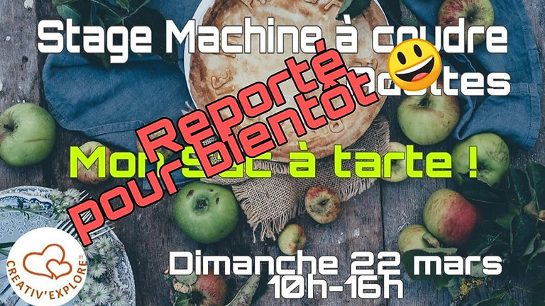 "Stage ""Couture machine"" Adultes débutants - Reporté"