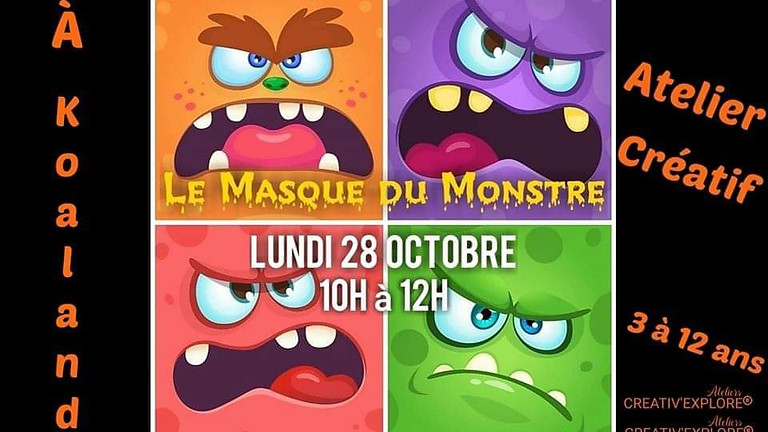 Le masque du monstre - Atelier créatif enfants