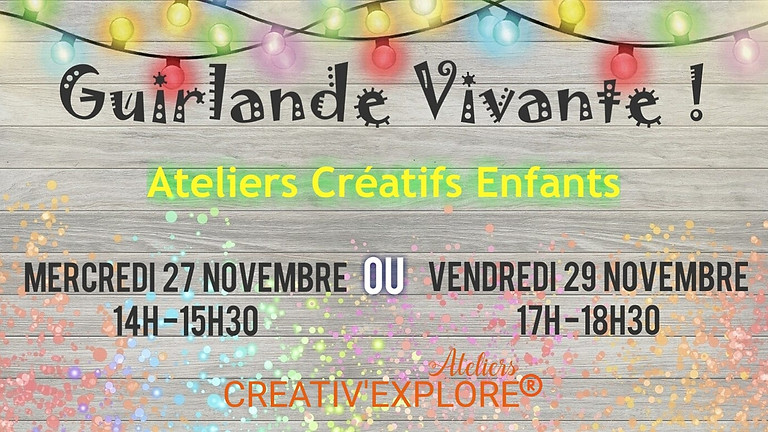 Guirlande Vivante - Atelier créatif enfants
