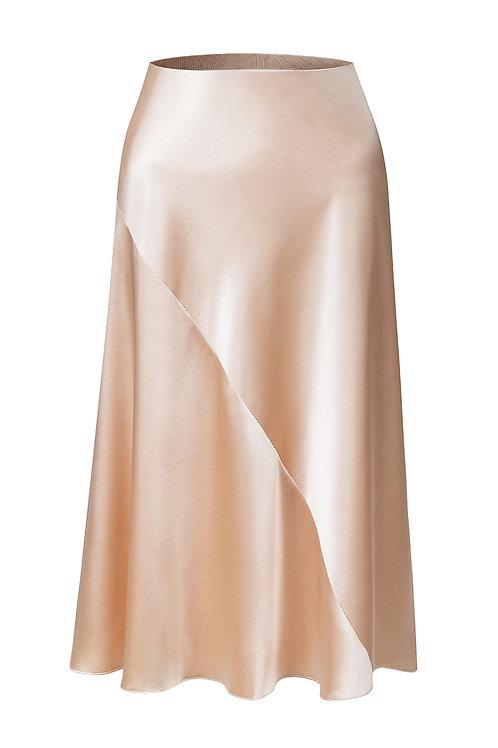 Saténová sukně
